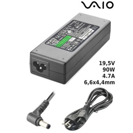 Fonte para Notebook Compatível com VAIO 19,5V 4.7A 90W 6,5x4,4mm SUMEXR - SO-15