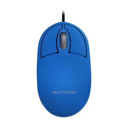 Mouse Multilaser Classic Box Óptico Full Azul USB - MO305