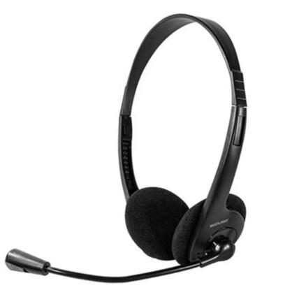 Fone De Ouvido Headset Estéreo Com Fio 32 OHMS Preto P2 Multilaser - PH002