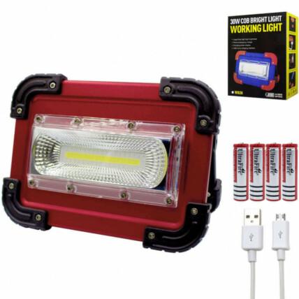 Holofote Refletor de Emergência LED Recarregável Portátil XZ - W828