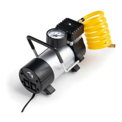 Compressor de Ar Automotivo 12v Cilindro Metálico 25 L/min 150 Psi com Bicos e Lanterna Integrada Multilaser - AU616
