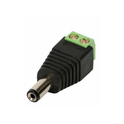 Conector de Alimentação P4 Macho para Camera CFTV com Borne Exbom - 01229
