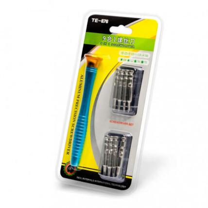 Conjunto de Chave de Fenda 8 Em 1 para Conserto de Smartphones Exbom  - KLTE-676