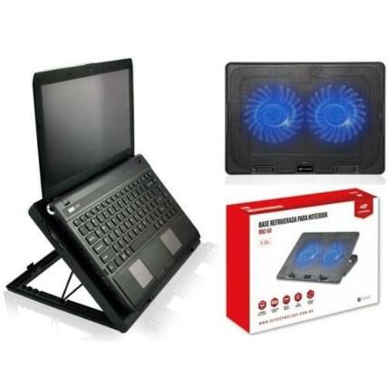 Base Gamer C3Tech para Notebook 2 Coolers LED Azul até 15.6' Silenciosa - NBC-50 V2BK