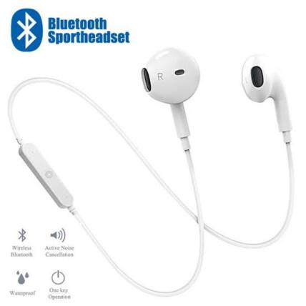 Fone de Ouvido Bluetooth 4.1 Estéreo Esportivo Branco - KA-S6