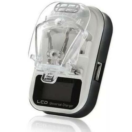 Carregador Universal de Bateria Celular e Câmeras Visor LCD Digital Bivolt - Y-100