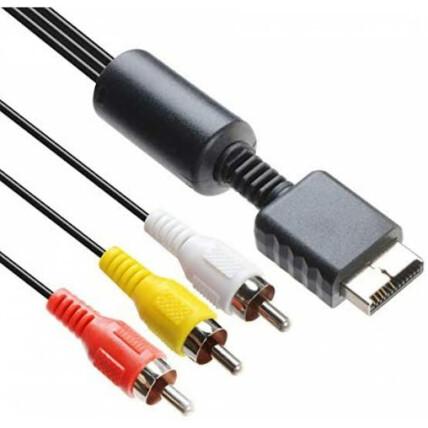 Cabo AV Áudio e Vídeo RCA para PS1 PS2 e PS3