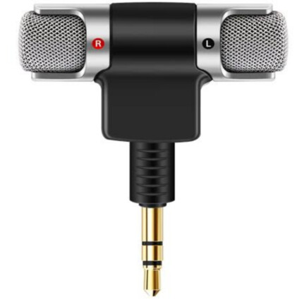 Mini Microfone Portátil Estéreo P2 para Celular Câmera - LTDS70
