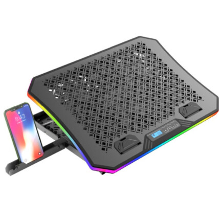Base Gamer C3Tech para Notebook 17.3' com Coolers - LED RGB - NBC-600BK