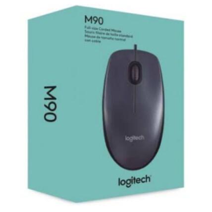 Mouse Logitech com Fio Usb 1000 dpi Preto - M90