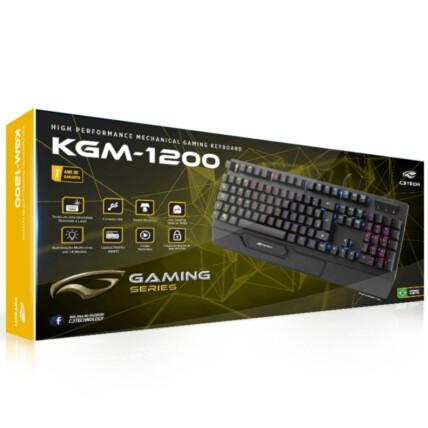 Teclado Gamer Mecânico C3Tech Usb com Led - KGM-1200BK