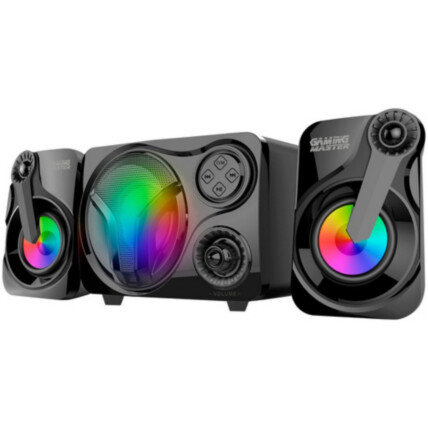 Caixa de Som Subwoofer Gamer K-Mex Led Multicolor 11W - SS-9300