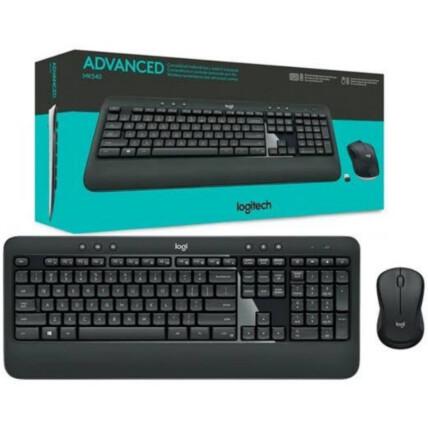 Teclado e Mouse Logitech Advanced Sem Fio Multimídia ABNT2 - MK540