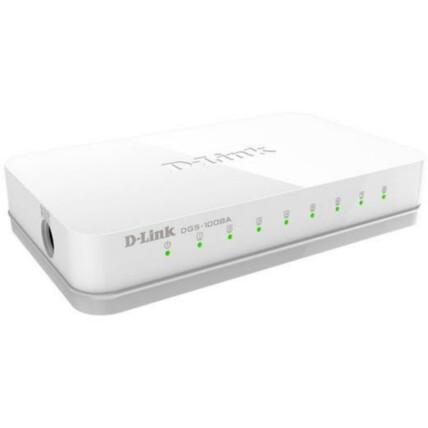 Switch D-Link Gigabit Ethernet 8 portas 10/100/1000Mbps - DGS-1008A