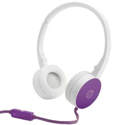 Fone Headset Dobrável HP Com Microfone P2 3,5mm Roxo - H2800
