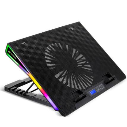 Base Gamer para Notebook C3Tech com LED RGB até 17.3' Silenciosa - NBC-500BK