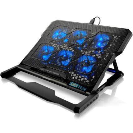 Base Gamer para Notebook Multilaser Hexa com 6 Coolers até 17' - AC282