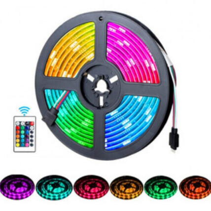 Fita de Led RGB 5M Com Controle Remoto Lux Power - 3528RGB