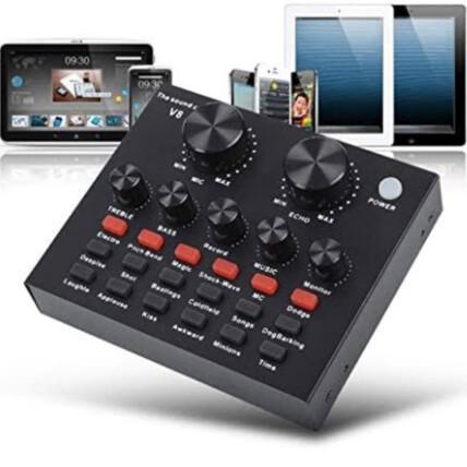 Mesa de Som Áudio Usb Smart Conjunto Interface Live - V8