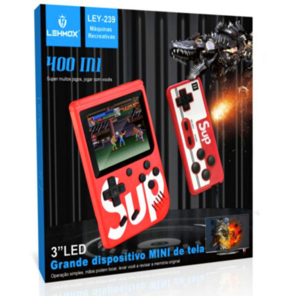 Mini Vídeo Game Portátil Retro com Controle e 400 Jogos Lehmox - LEY-239