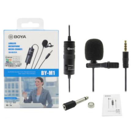 Microfone de Lapela Omnidirecional M1 para Câmera e Celular - BY-M1