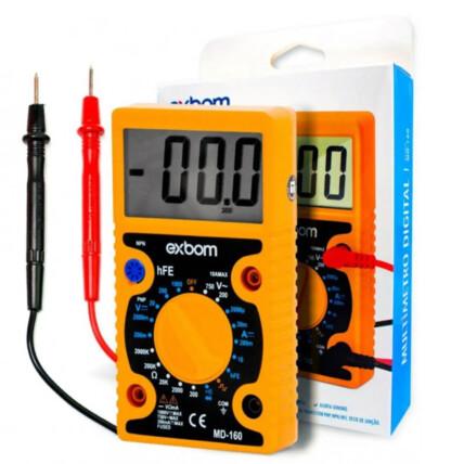 Multímetro Digital Portátil Para Medidas de Tensão Dc e Ac Exbom - Md-160