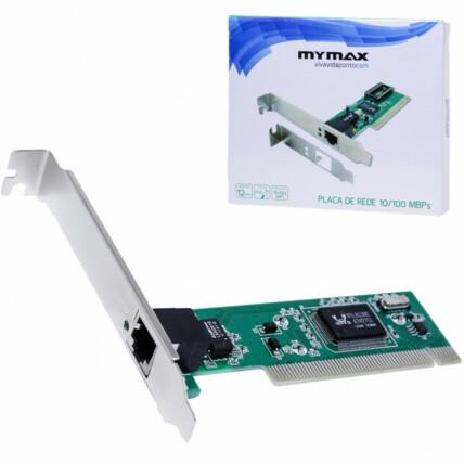 Placa de Rede Pci Chipset Realtek 10/100Mbps Mymax - MLAN-JEN / 6846