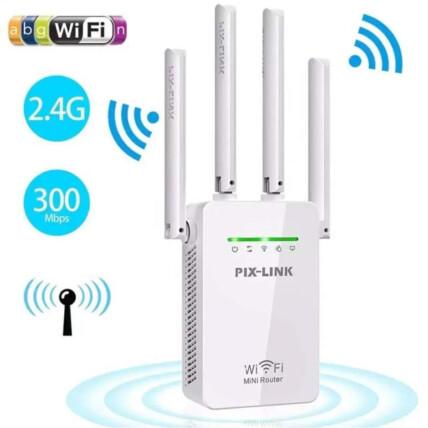 Repetidor De Sinal Wifi 4 Antenas Amplificador De Sinal - WR09
