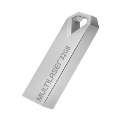Pen drive Multilaser Diamond 32GB USB 2.0 Metálico - PD851