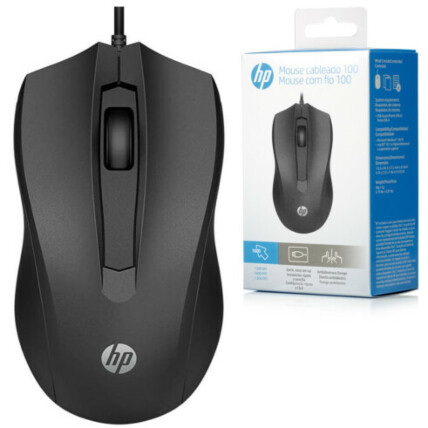 Mouse HP Usb com Fio 1600 DPI Preto - HP 100