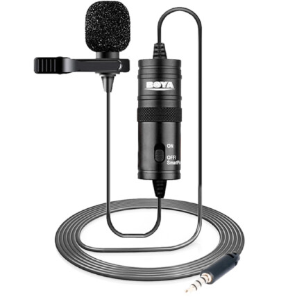 Microfone de Lapela Omnidirecional Boya M1- SC-MI SFQ-023