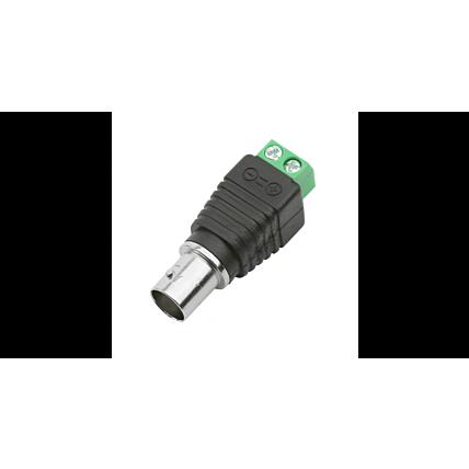 Conector 10 unidades Plug Jack Bnc Com Borne Fêmea Alimentação Câmera Cftv Dmix - A16