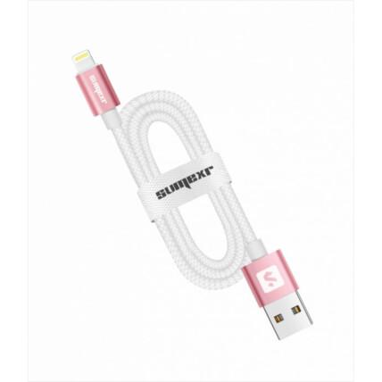 Cabo USB para iOS com Acabamento Emborrachado e Ponta de Metal SUMEXR - SS-B8-I6