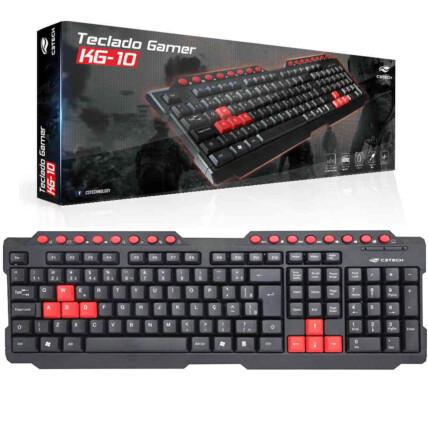 Teclado Gamer C3TECH ABNT2 200mA USB - KG-10BK