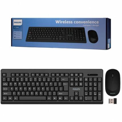 Teclado e Mouse Wireless Convenience PHILIPS - C324 / SPT6324
