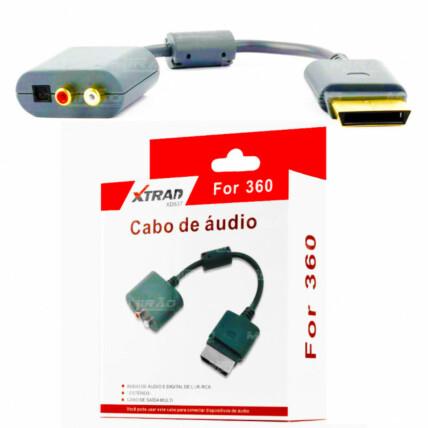 Cabo Adaptador de Áudio Ótico Digital ou RCA Xtrad - XBOX 360 - XD537